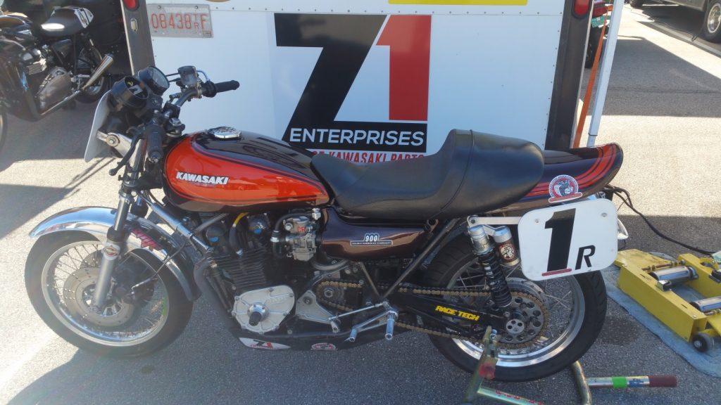 Kawasaki z1 1974 Barber Motorsports Park pits AHRMA Dennis parrish