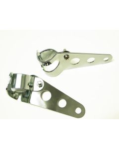 Brackets - Headlight - Chrome - Adjustable 3 Hole Custom Style - Universal