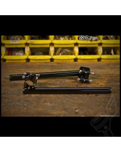 41mm Gloss Black Clip-on Handlebars - (Fits: Modern Triumph Twins & Other Makes & Models)