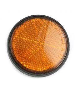 Honda Front Reflector - Round - Orange - CB350 CB450 CB500 CB750 GL1000