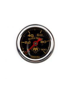 "Chrome 1/8"" NPT 1-3/4"" Oil Pressure Gauge - (Black Faced)"