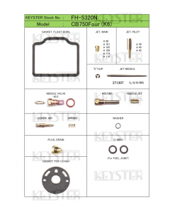 Carburetor Kit - CB750-K6 - Premium