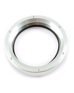 "2.5"" Silver Aluminum Mini Speedometer & Tachometer Bezel Ring"