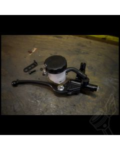 "7/8"" Universal Nissin Hydraulic Front Brake Master Cylinder - (Black Electroplate, 14mm Piston)"
