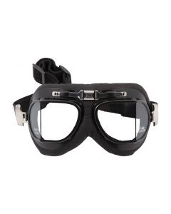 "Classic Split-lens ""Aviator"" Style Goggles - (Black/Leather)"