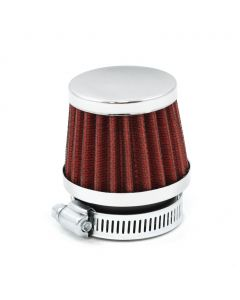 39mm Red K&N Style Shorty Air Filter Pod