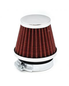 48mm Red K&N Style Air Filter Pod