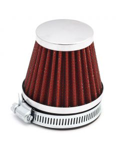 60mm Red K&N Style Air Filter Pod