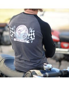 Dime City Cycles Flag Graphic T-Shirt - Black