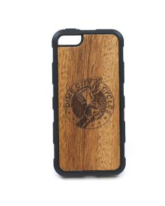 DCC Carved Mahogany Traveler Case - Fits iPhone 5/5s