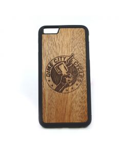 DCC Carved Mahogany Traveler Case - Fits iPhone 6/6s Plus