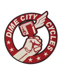 """10"""" Dime City Mercury Back Patch"""