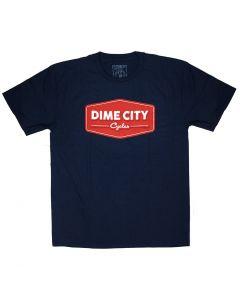 Dark Blue DCC Vintage Logo T-Shirt
