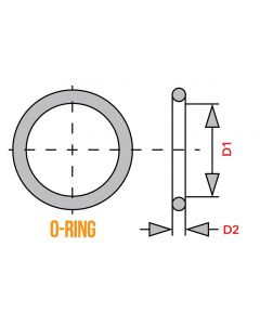 O-Ring - 90.0mm x 3.0mm - Oil Filter Cover - KZ650 KZ1000