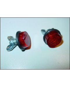Red Reflector license plate bolt