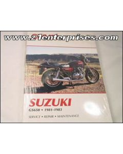 Manual GS650 Fours 1981-1983