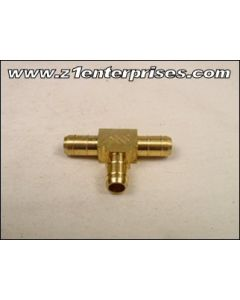 """Fuel Line 1/4"""" Brass T Connector"""