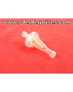 Fuel Filter Slim-line inline clear 1/4""