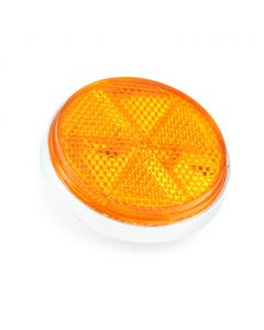Reflector - Rim - Front Fork - Chrome - Orange