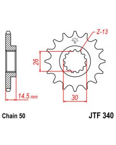 530 (JTF340 series) 18T Front Sprocket