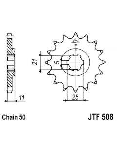 530 (JTF508 series) 16T Fr Sprocket