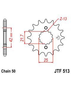 530 (JTF513 series) 18T Fr sprocket