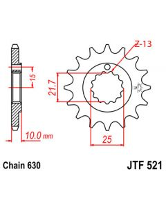 630 (JTF521 series) 15T Countershaft Sprocket