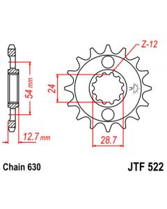 630 (JTF522 series) 16T Fr Sprocket
