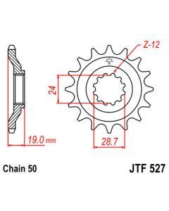 530 (JTF527 series) 17T Fr Sprocket