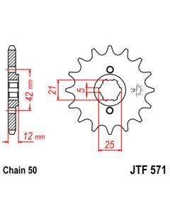 530 (JTF571 series) 15T Fr Sprocket