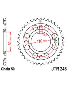 530 (JTR246 series) 37T Rr Sprocket