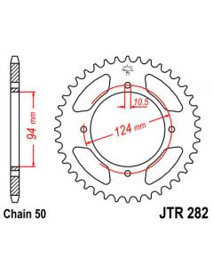 530 (JTR282 series) 37T Rr Sprocket