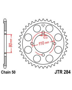 530 (JTR284 series) 48T Rr Sprocket
