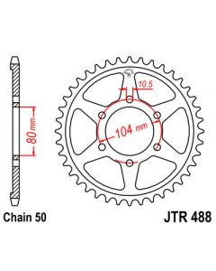 530 (JTR488 series) 46T Rr sprocket