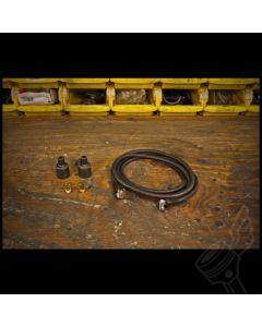 Vintage Cloth Spark Plug Wire Kit - (Black)