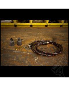 Vintage Cloth Spark Plug Wire Kit - (Black/Red)