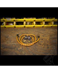 Vintage Cloth Spark Plug Wire Kit - (Yellow/Black)