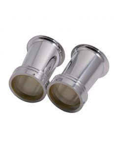 "3"" Polished Aluminum Full Taper Velocity Stacks - (Fits: Mikuni VM30, 32 & 34's)"