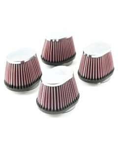 Air Filters (4) K&N RC-0984 (1) 54 Chrome End Caps