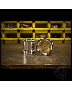 Polished Aluminum Velocity Stacks, Full Taper - (Fits: XS650, KZ1000/KZ1100, GS1100, XS1100 & Others w/ 55mm Carbs)