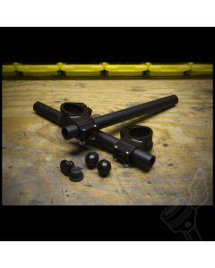 Black 41mm Vortex Billet Aluminum Clip-On Handlebars - (Fits: Modern Triumph Twins & Others)