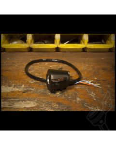 Vintage Honda OEM Black Left Side Handlebar Control Switch (Turn Signal & Horn)