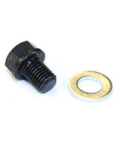 Oil Drain Plug & Washer Black 12mm Honda